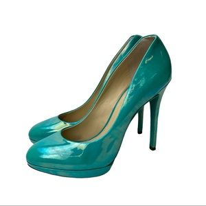 B Brian Atwood Patent Leather Pumps Sz 8.5